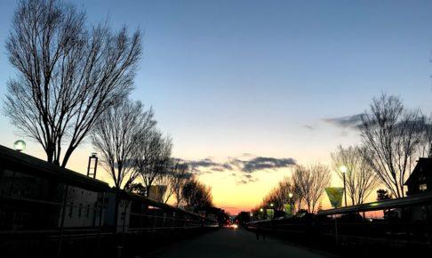 ある街の夕暮れ